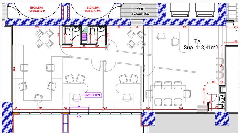 plano of 510 - A, Prat 199, Ed. Centro Costanera